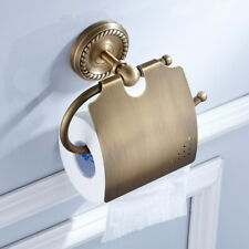 Antique Brass Wall Mounted Bathroom Toilet Paper Towel Roll Tissue Holder QD1770