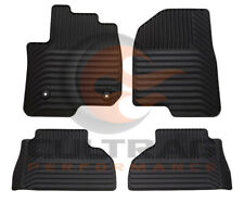 2019 2020 Silverado Sierra EXT Cab Front & Rear All Weather Floor Mats Black