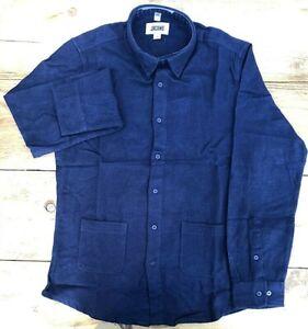 Mens Jacamo Blue Fleece Shirt With Pockets - UK Size Small 36/38 & Medium 39/41