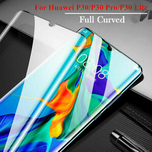 Curved Genuine Tempered Glass Screen Protector For Huawei P30 Pro New Edition