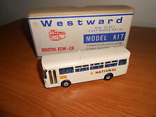 WESTWARD Bristol LH/ECW National White Metal Bus Kit Built