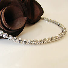 Echt 925 Silber Armband Tennisarmband 18,5 cm