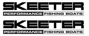 Skeeter Performance Fishing Boats Decal  Set Stickers Bass Rapala Windshield