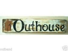 Primitive Outhouse Sign Privy Sign Outdoors Shabby Sign Distressed Wooden