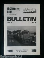 LCGB - LOCOMOTIVE CLUB OF GREAT BRITAIN BULLETIN - JUNE 14 1989