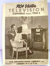 RCA TRK-5 Console Television Instruction Manual TRK5