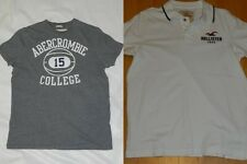 MENS LOT OF 2 T SHIRTS = ABERCROMBIE & HOLLISTER = SIZE youth XL - ss23
