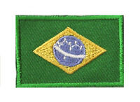 Badge écusson petit patche thermocollant drapeau Brésil Brazil 45x30 mm