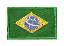 Badge écusson petit patche thermocollant drapeau Brésil Brazil 45x30 mm