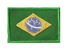 Badge écusson petit patche thermocollant drapeau Brésil Brazil 45x30 mm 638140d705c