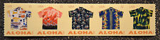 2012USA #4597-4601a 32c Aloha Shirts - Coil Strip of 5  Mint  NH