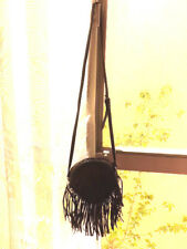Deluex LUX black cross body fringes handbag purse nwt