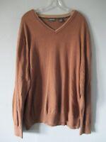 St. John's Bay Men's Size XX-Large XXL 2XL V-Neck 100% Cotton Pullover Sweater