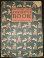 MARCH 1920, JOHN MARTIN'S BOOK, THE CHILD'S MAGAZINE, VINTAGE, CHILDREN'S