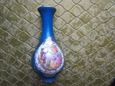 Limoges Turquesa Azul Florero la reine