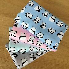 LIL PANDAS fat quarter Bundle 100% cotton Panda bear baby fabric pastel colours