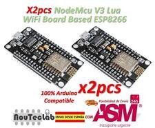 2pcs NodeMcu V3 Lua WeMos WiFi Módulo CH340 Desarrollo Basado ESP8266 ESP12E