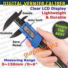 "Digital Vernier Caliper 150mm 6"" LCD Display Electronic Gauge New Carbon Fiber"