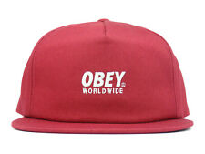 OBEY PORTLAND SNAPBACK CAP - TINT RED - 100% AUTHENTIC