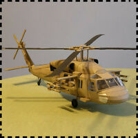 Black Hawk Sikorsky UH-60 Helicopter 1:33 Scale DIY Handcraft Paper Model Kit