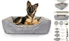 """Durable Dog Bed for Large Medium Small Dogs Soft L-(29"""" x 23"""" x 9"""") Grey"""