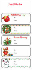 Holiday Stickers: Christmas Gift Labels Stickers - Generic (pack of 25 sheets)