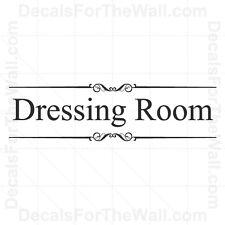 Dressing Room Girl Closet Wall Decal Vinyl Art Sticker Quote Decoration O13