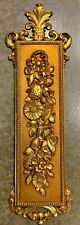 Vintage Syroco Floral Flowers Regency Rococo Wall Plaque 7221 Gold Art