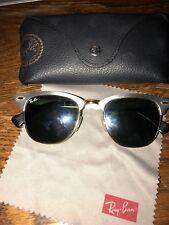 Ray Ban Aluminium Silver Gold Clubmaster Sunglasses