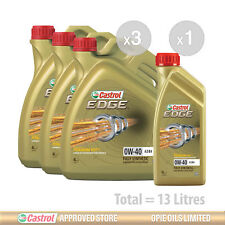 Engine Oil Service Kit: 13 litres of Castrol EDGE 0w40 FST A3/B4