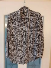 H&M Long Sleeve Leopard Print Shirt Size 14