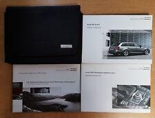 GENUINE AUDI A6 AVANT OWNERS HANDBOOK WALLET 2008-2011 PACK D-966