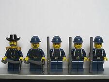 Lego WESTERN AMERICAN CIVIL WAR Dark Blue Union Soldiers Minifigs Cavalry