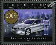 Honda Asimo Robot & Honda Accord V6 Sello de coche japonés (2012 Guinea)