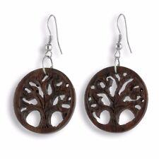Ohrringe Holz Baum des Lebens Tree Of Life Earrings Design Schmuck ER270