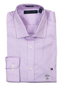 Tommy Hilfiger Solid Color Long Sleeve Slim Fit Stretch Button Down Shirt NWT