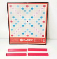 Scrabble Tile Holders & Board Replacement Plastic Red EUC