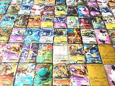 100 POKEMON TCG CARDS LOT: COM, UNC, RARE, HOLO GUARANTEED EX GX OR FULL ART EX