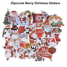 25Pcs/set Merry Christmas Stickers Street Doodle Sticker Waterproof PVC StickJB