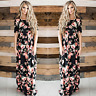 Women Boho Long Maxi Dress Floral Summer Party Evening Beach Sundress Fashion