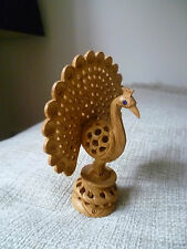 vintage kadam wood hand carved  rajasthan made by national awardee peacock bird