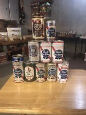 Lot of 10 Different Pabst Blue Ribbon Beer Cans