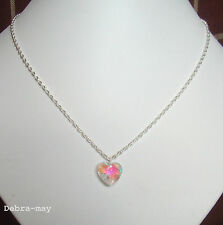 "Pretty Crystal AB Heart Pendant 18"" Chain Necklace in Gift Bag"