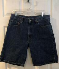 "Levi Jean Shorts 550 Men Blue Size 34 X10"" Front 5 Pocket Zip Denim"