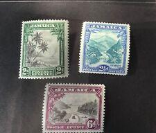 Jamaica George V 1932 set of 3 values m/mint SG 111/3. (Cat £70)