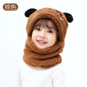 Winter Children Hat Kids Caps Cartoon Hat Girls Boys Scarf Thicken Baby New Cap