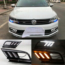 Exact Fit Switchback LED DRL Fog Lights w/Turn Signals For VW Jetta MK7 2015-up