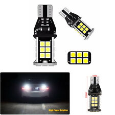 2Pcs Super Bright T15 1600 LM Car Auto White LED Light Blubs Backup Reverse Lamp