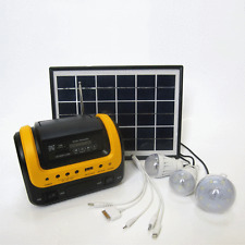 Driveways Solar Panel LED With Radio Lighting System Portable Camp Power Storage