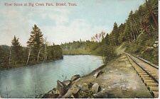 1909 River Scene at Big Creek Park in Bristol, TN Tennessee PC
